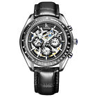 IK Automatic Mechanical Movement Men Watches Skeleton Sport Wristwatch Calendar