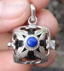 Gemstone Solid Silver, 925 & Brass Mystic Chime Balinese Pendant 25495