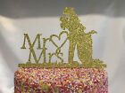 Wedding Engagement Glitter Cake Pick Topper Sparkly Decoration