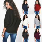 New Women Ladies Long Sleeve Knitted Pullover Loose Sweater Jumper Tops Knitwear