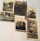 Brown White Sepia Photos & Pinback Children Tricycle Paddleboat Pram Sisters