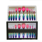10Pcs Toothbrush Oval Make Up Brushes Set Foundation Contour Face Makeup Brush + <br/> Oval Brush/ CometicsBrushes-Fast Ship-High Quality-Gift
