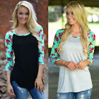 New Fashion Girls  Long Sleeve Casual Blouse Loose Cotton Summer Top T-Shirt