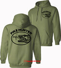 PIKE HUNTER pike fishing angling spinning carp trout - HOODIES - S-XXL - OVAL