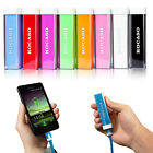 external battery for phones - 2600mAh USB External Portable Backup Battery Charger Power Bank for Mobile Phone