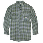 Rasco FR Men's Flame Resistant Green Plaid Work Shirt NFPA 2112