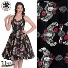 HELL BUNNY Tennessee ~ Western Psychobilly Swing Dress ~ Rockabilly Pinup Skull