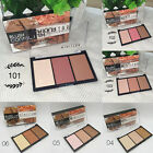 Makeup Blush Bronzer & Highlighter Contour Cosmetic 3 Color Power Palette 2017