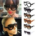 Oversized Personality One Piece Sunglasses Large Big Square Flat Womens UV400