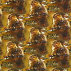 STAR WARS CHEWBACCA SUPER STRETCHY JERSEY FABRIC SOLD BY THE HALF METRE NEW £18.0 GBP