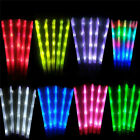 60 pcs Light Up Rainbow Sticks LED Rally Flashing Batons Glow Wands For Party DJ