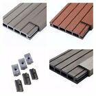 30 Square Metres of Wooden Composite Decking Inc Boards, Edging & Fixing Packs