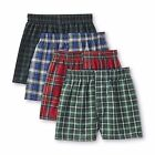 Hanes Boys 4-Pack Boxers Multi Plaid Comfort Soft Kids sizes S M L XL NEW