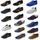 Mens Trainers Sneakers Lace Up Shoes Suede Smart Look Deck Casual Going Out Size