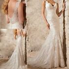 New Custom White/ivory Wedding Dress Lace Bridal Gown Size:2 4 6 8 10 12 14 16++