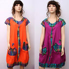 CX148 High Quality Fashion Casual Loose Fitting Gown Dress 100% Cotton M L XL