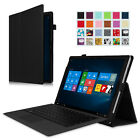 surface pro cover - Fintie Microsoft Surface Pro 4 / Pro 3 Case 12.3 Inch Tab PU Leather Folio Cover