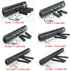 Black 7/9/12-15'' Free Floating Keymod Ultralight Handguard +3 pcs Rail sections
