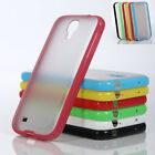 Matte Clear Back Shockproof Slim Bumper Hard Case Cover for Samsung Galaxy S4