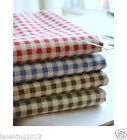 1y Vintage Styles Cotton Linen Fabric Sewing 150cm*90cm check pattern