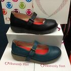 Heavenly Feet Shuffle Leather Lined Shoes Sizes 3,4,5,6,7,8 New Work School Girl