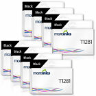 MOREINKS Black (x8) Compatible T1281 Ink Cartridges for Epson Stylus Office
