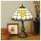 West Virginia Mountaineers Stained Glass Table Top Lamp
