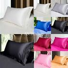 MultiColor Silk Satin Standard Pillow Case Cushion Cover Pillowcase Home Decor