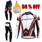 50% OFF Biycle Jersey Winter Mens Fleece Liner Jacket and Thermal Cycling Tights