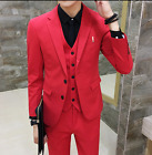 Mens Slim Fit Business Formal Dress Suit Coat Two Buttos Fashion Outerwear New