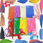 100 x -Pack Of PARTY BALLOONS MIXED COLOURS 260q Traditional For Modelling Magic