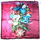 "Women's Colorful Flowers Square Vintage Scarf Shawl 34"" Oil Painting 3Col 