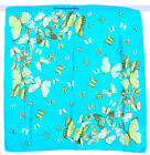 Beautiful Real 100% Silk Shawl/Scarf Animals Meeting Square 32"