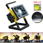 Portable Rechargeable 50W 36 LED Floodlight Camping Fishing Lamp+18650+Charger