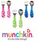 Baby Fork and Spoon Cutlery Set Toddler Food Feeding Munchkin 12m+