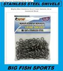 AFW MIGHTY-MINI Stainless Steel Crane Swivels 50 Pack SIZES 1,3,5,7,10,12,14,1/0