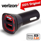 OEM Verizon LOGO Car Wall Home Fast Charger 4FT Data Cable iPhone 7 6S 6 Plus