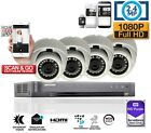 4 Channel 1080P HD TVI 2.4 MP CCTV DVR HDMI Outdoor Video Security Camera System