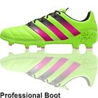 adidas Ace 16.1 Leather Boots (FG - Solar Green/Shock Pink/Black)