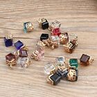 DIY 10PCS Water Cube Crystal Pendant Alloy Charms Pendant Jewelry Findings NEW
