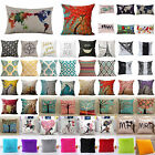 Floral Cotton Linen Throw Waist Pillow Case Cushion Cover Fluffy Home Decor Sofa