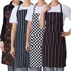 Womens Mens Cooking Chef Kitchen Restaurant Bib Apron Dress With 2 Pockets Gift