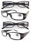 L193 Ladies Plastic Frame Reading Glasses/Spring Hinges/Diamante/Classic Design