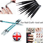 Precision Tweezer/Silicone Head Nail Art Brushes for Nail Art Craft DIY Tool UK