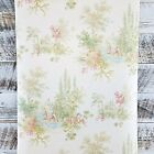 Traditional Scenic Toile Pink Green Blue Tan Taupe Classic Designer Wallpaper