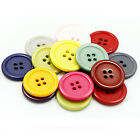 Внешний вид - Round Resin 4-Hole Flat Button Sewing Crafts For Jackets Coats Shirts DIY10-25mm