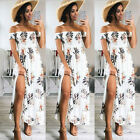 Fashion Women Summer Boho Floral Beach Dress Evening Cocktail Long Maxi Dress