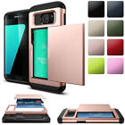 For Samsung Galaxy S5 Thin Credit Card Holder Wallet Case Slim Slide Phone Cover