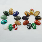 30x20x8mm Gemstone Oval CAB CABOCHON Flat Back Beads Jewelry Design x125