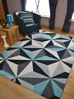 Small Extra Large Modern Light Blue Silver Charcoal Floor Carpet Mat Rugs Cheap